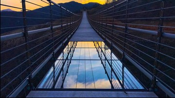 SkyBridge, the longest pedestrian bridge in the US, opens in Gatlinburg