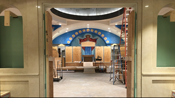 Take a rare look inside St. George Greek Orthodox Church's sanctuary renovation