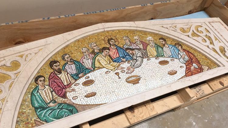 Last Supper tile work St. George Greek Orthodox Church.jpg