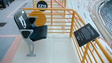 Seat in Neyland Stadium dedicated to U.S.prisoners of war, missing in action