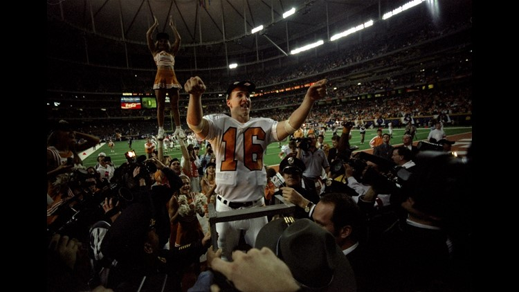 Peyton Manning after 1997 SEC championship game