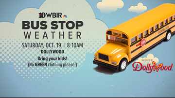 Bring your kids to Dollywood for the bus stop weather photoshoot!