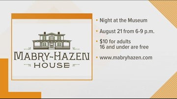 Mabry-Hazen House to hold Night at the Museum