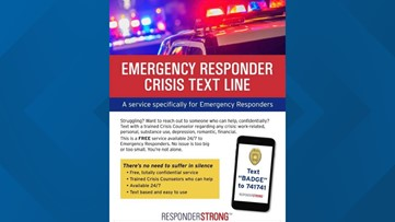 Text line available for emergency responders in crisis