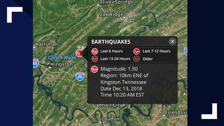 Kingston - 1.5 magnitude quake