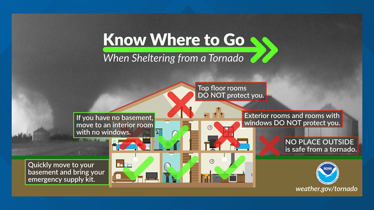 Weather aware: How to plan ahead and find your safe spot in case of a tornado