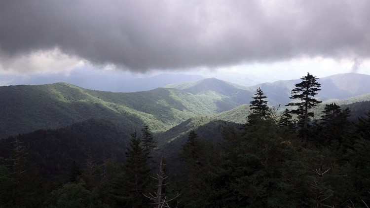 Clingmans dome parking area overlook Smokies Great SMoky Mountains