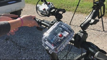 Captured on Camera: Sevier County cyclist hit by car, taking action