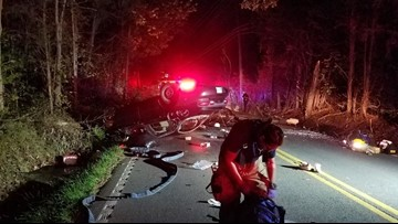 Four hospitalized following serious crash on Raccoon Valley Drive