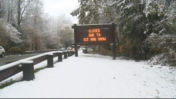 Foothills Parkway East and West, along with Newfound Gap Road to close Sunday ahead of snow and ice