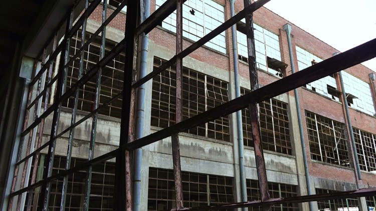 Vacant Standard Knitting Mill in Knoxville.
