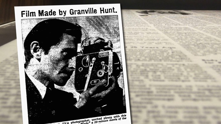 Newspaper Clip Films Made Granville Hunt for History