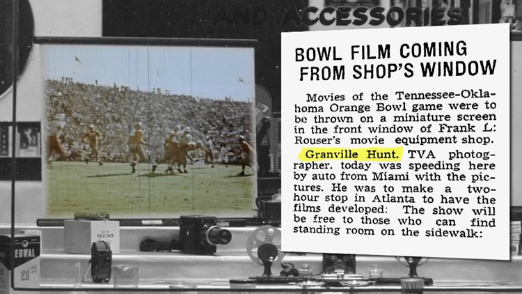 1939 Orange Bowl Film Shop Window Granville Hunt for History