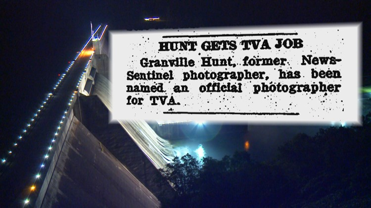 Hunt Gets TVA Job Norris Dam Granville Hunt for History