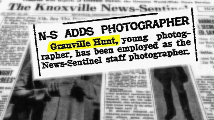 News Sentinel Adds Photographer Granville Hunt for History