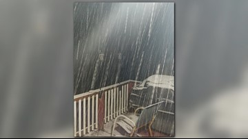 First flurries of the season fall in East Tennessee