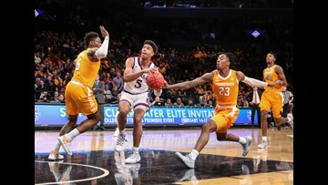 No. 5 Tennessee can't match No. 2 Kansas in overtime