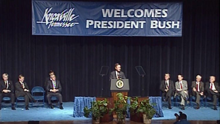 President George Bush February 1992 Knoxville