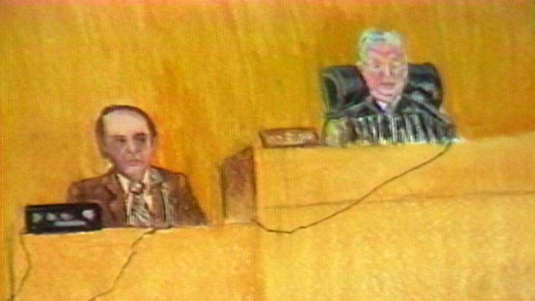 JPG 14 16x9 1982-03-13 Sketch Jim Winston playing tape of confession David Earl Miller