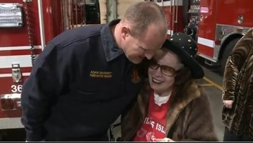 Car crash survivor visits Oak Ridge first responders who saved her life, offers up donation