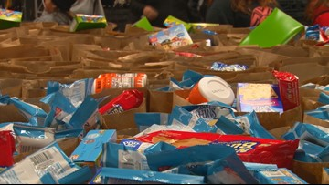 Volunteers get ready for Second Harvest's Double Your Donation Day