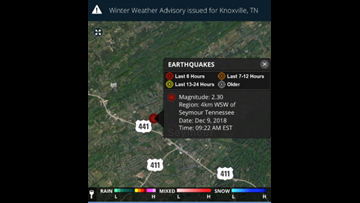 2.3 earthquake strikes Seymour, is second TN earthquake in as many days