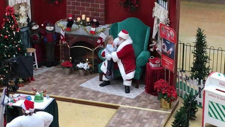 Santa Claus girl lap Knoxville Center