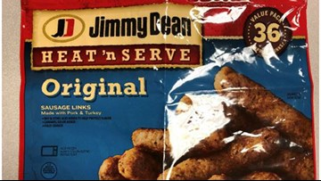 Recalled frozen sausage links may have metal inside