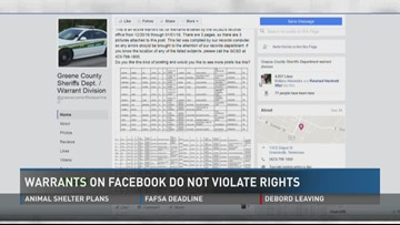 Greene sheriff posting active warrants on Facebook page