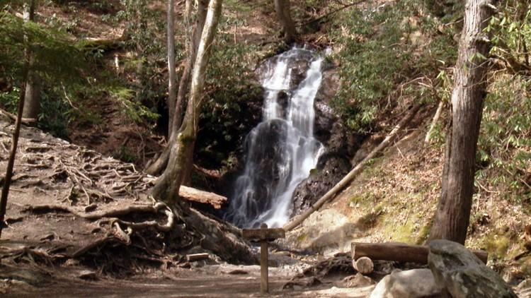 Cataract Falls Great Smoky Mountains National Park Smokies waterfall