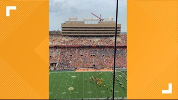 Tennessee crowd light for kickoff against Chattanooga