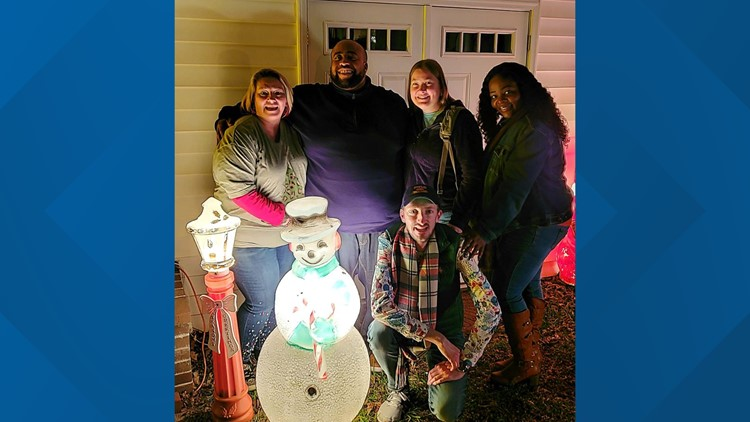 Brent Miller and friends after Frosty was found