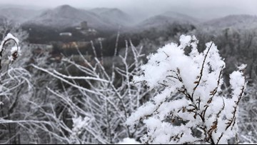 Snow showers are expected in the higher elevations through the day