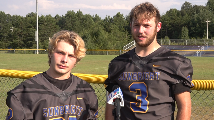 Sunbright sweeps offensive and defensive player of the week awards