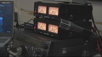 Radio operators work as eyes, ears at race