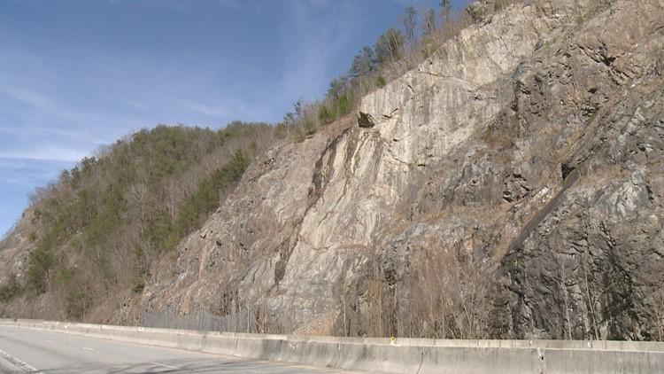 2009 Rockslide Site Interstate 40 Pigeon River Gorge