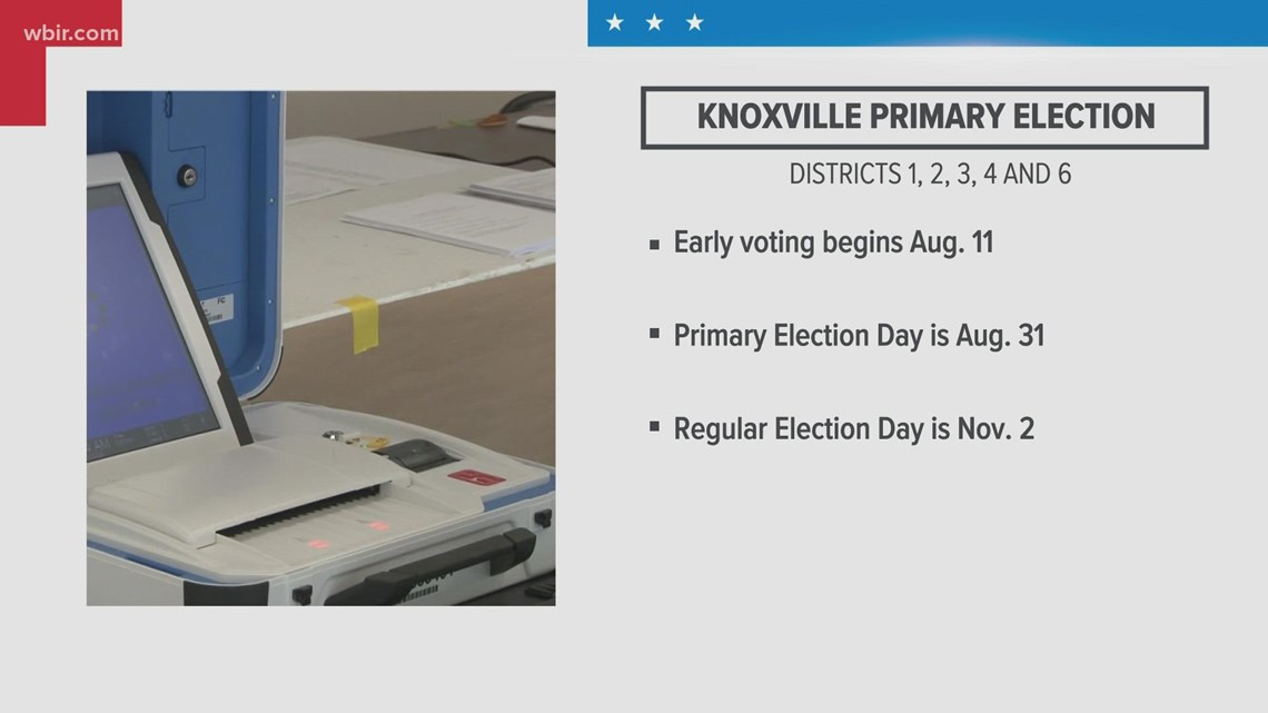 The Knoxville City Council election's voter registration ends by Monday
