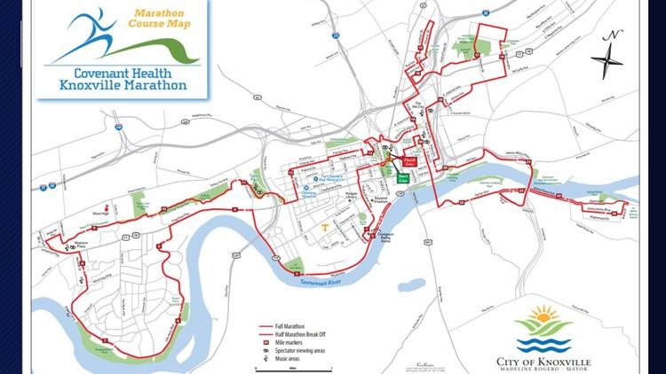 Covenant Heath Knoxville Marathon Course Map 2019
