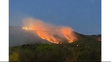 Crews contain overnight fire on Rockwood Mountain