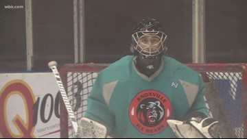 From the couch to starting goalie: Ice Bears' Troy Davenport