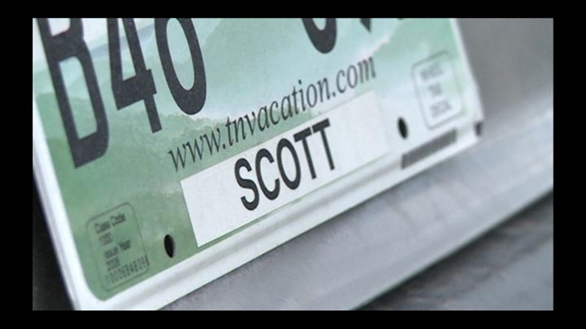 What can\'t you put on a Tennessee license plate? | wbir.com