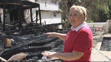 'We had about maybe one minute to get out' | Farragut woman finds special gift among charred remains of her home