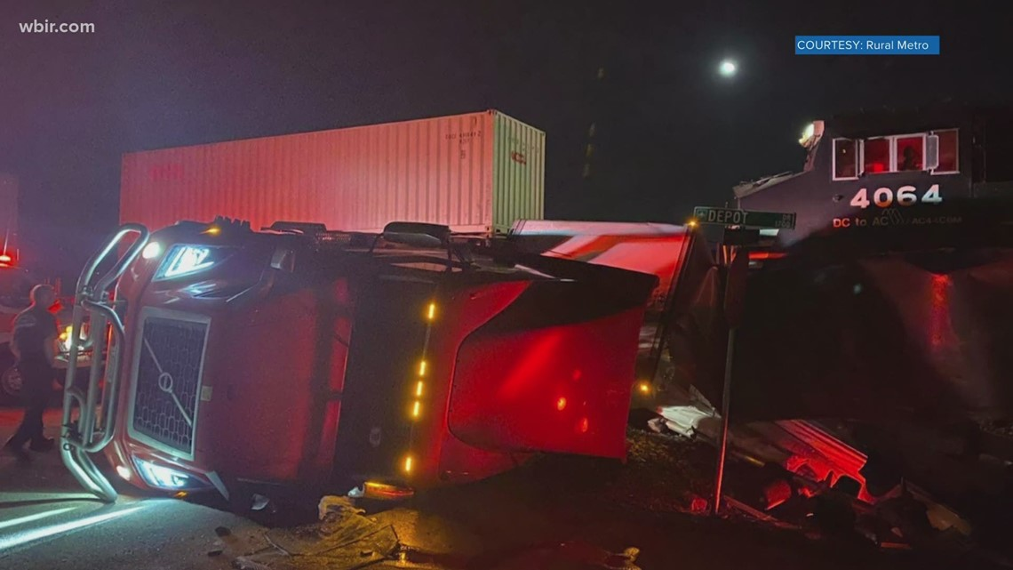 Rural Metro: Tractor-trailer collides with train in Powell, no injuries