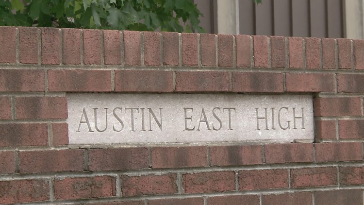 Community gathers in  support as Austin-East, Vine students return to school