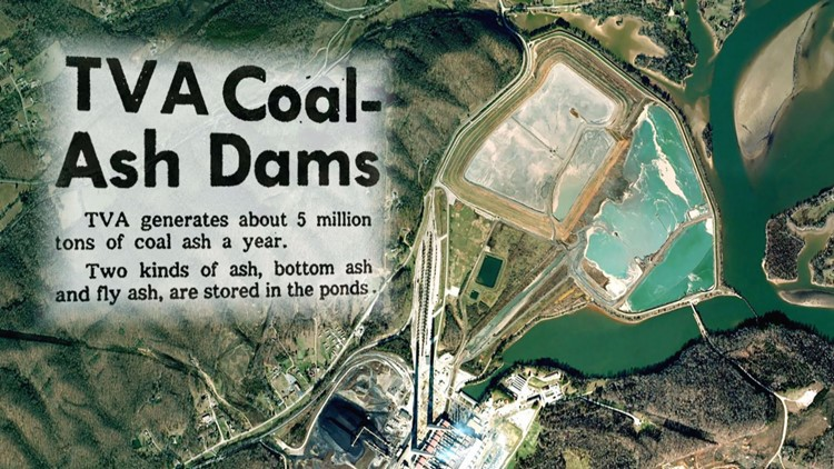 TVA Coal Ash Dams Graphic Satellite Shot