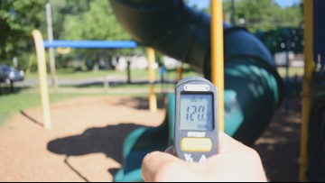 Parents, be cautious: The coming summer heat will make playground equipment dangerously hot