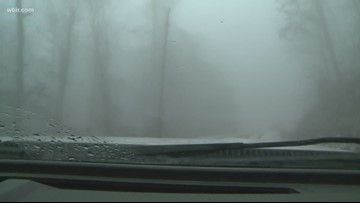 Crews treat roads in snowy Campbell County
