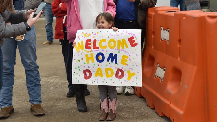 soldier return home sign