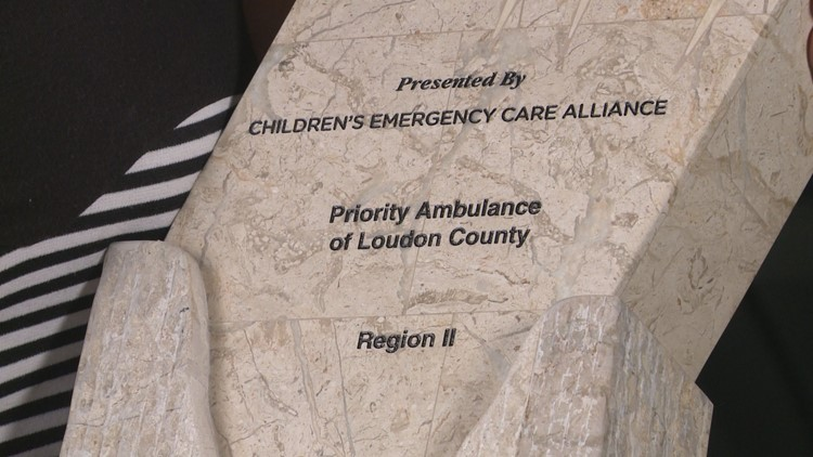 The Children's Emergency Care Alliance presented the Star of Life Award to the Priority Ambulance of Loudon County.