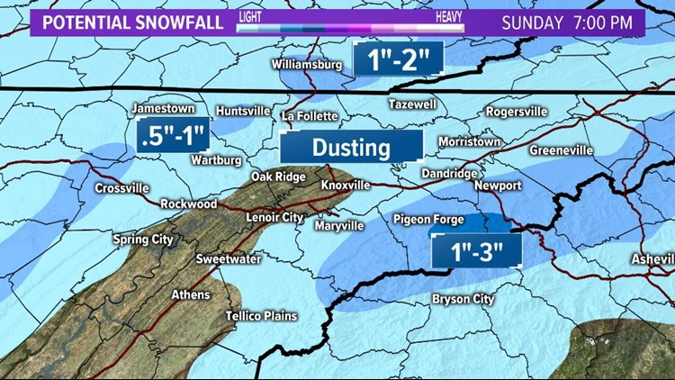 Potential Weekend Snowfall Totals